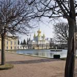 """Петерго́ф (Petrodvorets)  Peterhof Palace Chapel"" by sphraner"