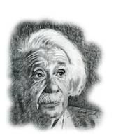 Hand Drawn Portrait of Albert Einstein