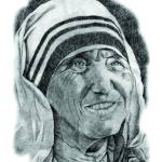 """Hand Drawn Portrait of Mother Teresa"" by CreativeArtisticNuance"