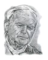 Hand Drawn Portrait of Pope John Paul II