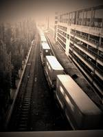 Belltown Train in Sepia