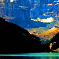Lake Louise   Abstract Edition 7904-7