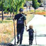 """Fathers Day - Country Walk"" by BeaconArtWorksCorporation"
