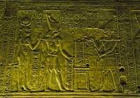 Egyptian temple bas relief