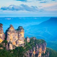 Three Sisters Blue Mountains National Park Art Prints & Posters by Ian Woolcock