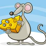 """mouse with cheese"" by cartoonfactory"