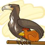 """""""eagle and chicken"""" by cartoonfactory"""