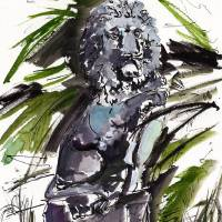 """Georgia History The Lion Statues of Jekyll Island"" by Ginette Callaway"