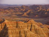 The Badlands National Park Black Hills Late Evenin