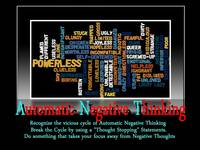 Automatic Negative Thinking Poster