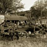 """Antique Tractor In Sepia"" by bettynorthcutt"