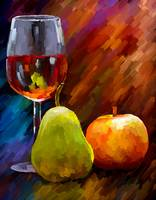 Red Wine and Fruits Still-Life
