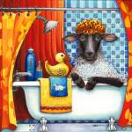 """Baa Baa Bath Sheep"" by CuriousInk"