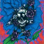 """Blue Rose and Skull"" by dan3one"