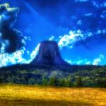 """distant devils tower"" by rinthcog"