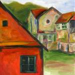 """Orange House, Romania"" by darlenetwitchell"