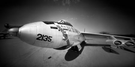 B-47 Stratojet Through a Pinhole