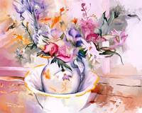 Flowers in a Water Pitcher