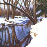 """Snow and the Creek"" by powellfineart"