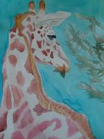 Giraffe in Watercolor