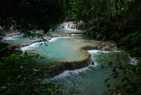 limestone pools in jungle