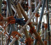 Bamboo and ropes