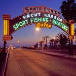 """Santa Monica Pier at Twilight"" by Stewart"