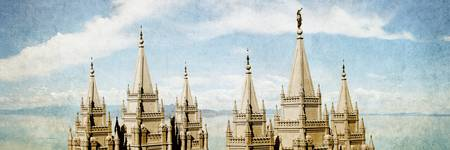 Salt Lake Temple (Lake View - No title)