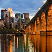 """Stone Arch Bridge Minneapolis"" by joemamerphotography"