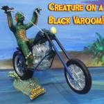 """CREATURE ON A BLACK VAROOM!"" by GeoffGreene"