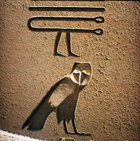Hieroglyphic relief in the Temple of Amun