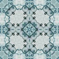 No.2 Shabby chic cottage Blue rosette motif