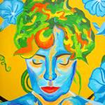 """Brugmansia Ecstasy - detail face"" by sondrasula"