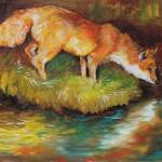 """RED FOX I"" by MBaldwinFineArt2006"