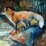 """RED FOX II"" by MBaldwinFineArt2006"