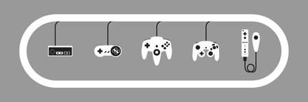 Nintendo Controller Evolution Grey