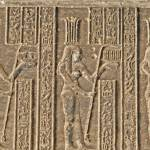 """Hieroglyphs at Dendera Temple 6"" by rhallam"