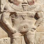 """Bes statue at Dendera Temple"" by rhallam"