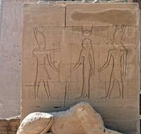 Hieroglyphs at Dendera Temple