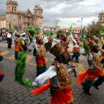 """INC workers dance in Cusco parade"" by hoffkar"