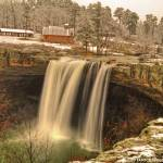 """Noccalula Falls on Snow Day"" by Janice_Wagnon_Photography"