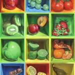 """Boxed Still Life: Fruit Series #1"" by soothedbyrainfall"