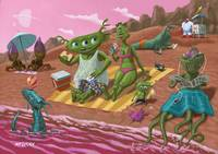 alien beach vacation