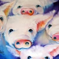 FIVE LITTLE SQUEALS by Marcia Baldwin