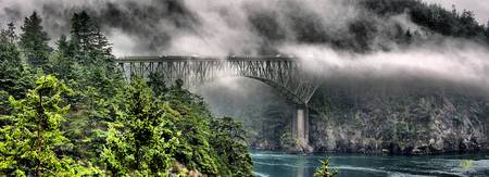 Fog Bridge Panorama