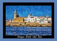 Sitges from the Sea