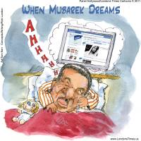Mubarak Worst Nightmare (Appeared In Jerusalem Pos Art Prints & Posters by Rick London