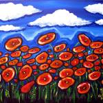 """Field of Red Poppies"" by reniebritenbucher"