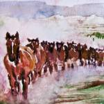 """Wild Running Horses"" by nataliecardon"