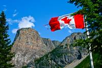 Canadian Flag over Moraine